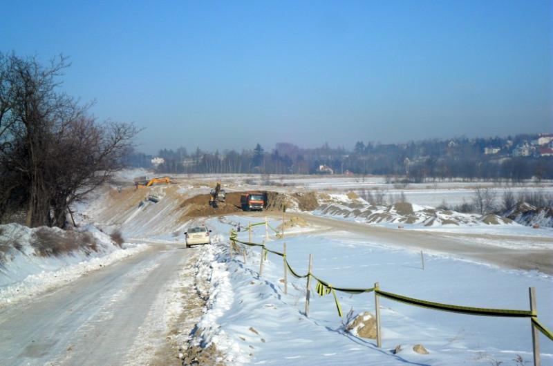 Mimo zimy postępują prace przy budowie S19 Świlcza - Rzeszów