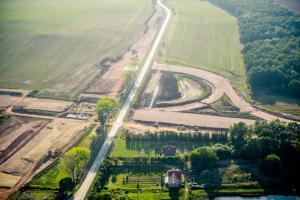 Budowa S3 Jawor - Bolków. Zdjęcia lotnicze - jesień 2016 r.