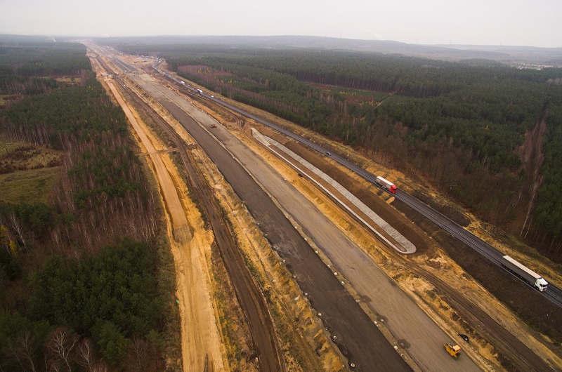 Koniec roku 2018 na budowie drogi ekspresowej S3 Polkowice – Lubin - galeria zdjęć