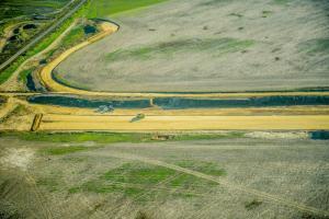 Budowa drogi ekspresowej S3 Legnica - Jawor. Zdjęcia lotnicze jesień 2016 r.