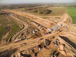 Z wizytą na budowie drogi ekspresowej S3 Lubin - Legnica