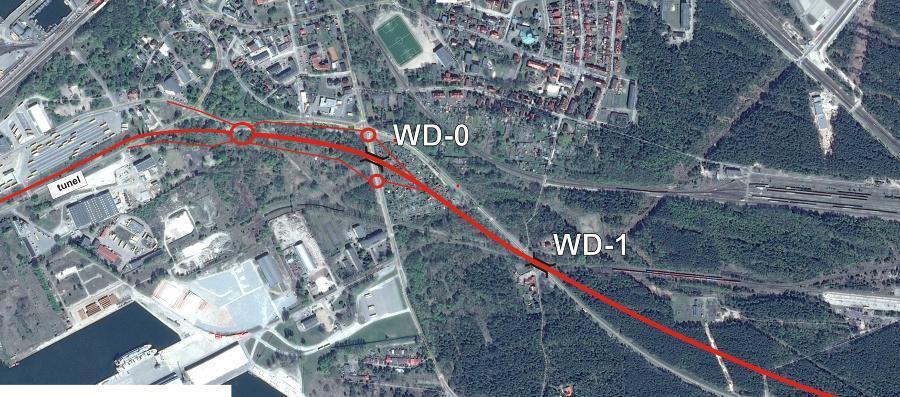 Warianty przebiegu drogi ekspresowej S3 w okolicach Świnoujścia
