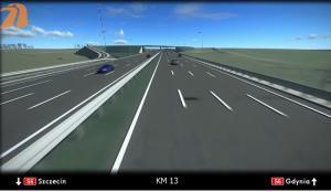 Wizualizacja drogi ekspresowej S6 Szemud - Gdynia