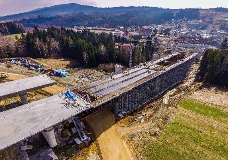 Budowa Zakopianki - droga ekspresowa S7 Lubień - Rabka