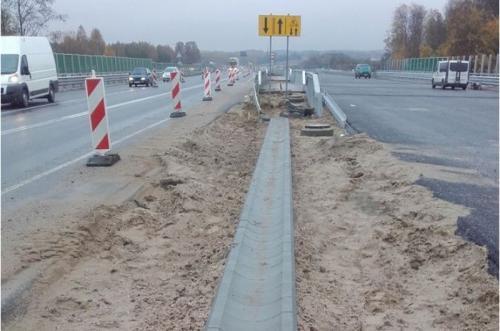 Budowa drogi ekspresowej S7 Miłomłyn - Ostróda (listopad 2016 r.)