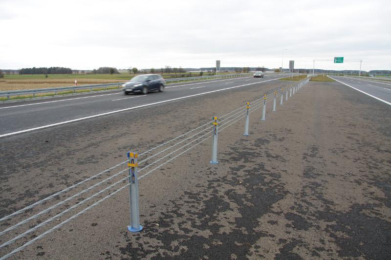 Droga ekspresowa S7 w oolicy węzła Napierki