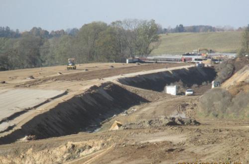 Prace na odcinku Ostróda - Rychnowo. Budowa drogi ekspresowej S7 Miłomłyn - Olsztynek