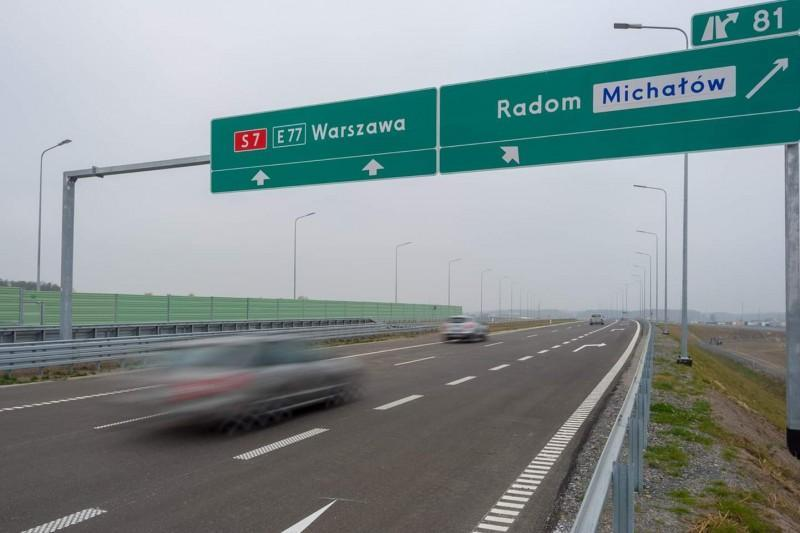 Droga ekspresowa S7 - zdjęcia trasy Gdańsk - Warszawa - Kraków