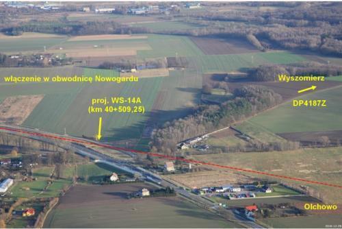 S6 Nowogard - Płoty - przebieg drogi ekspresowej