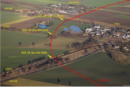 S6 Płoty - Kiełpino - przebieg drogi ekspresowej