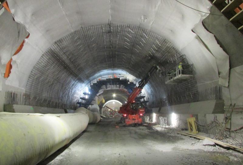 Tunel na Zakopiance w budowie