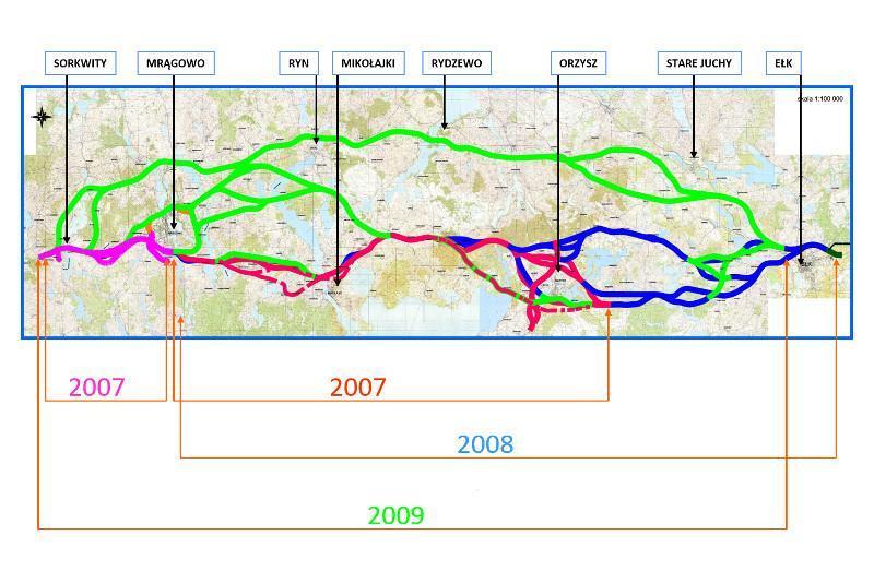 Warianty przebiegu drogi ekspresowej S16 Mrągowo - Ełk