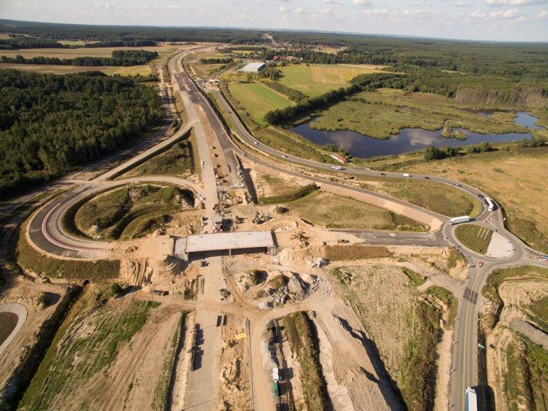 Węzeł Legnica - na połaczeniu drogi ekspresowej S3 z autostradą A4
