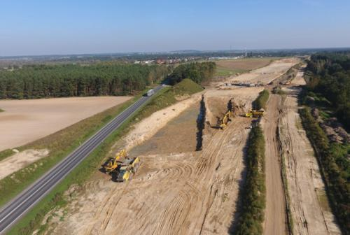 Budowa drogi ekspresowej S5 w kujawsko-pomorskim - październik 2017 r.