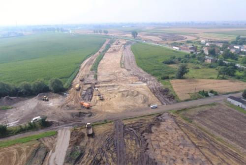 Budowa S5 w kujawsko-pomorskim - stan prac sierpień 2017 r.