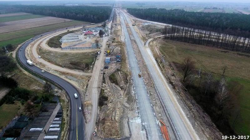 Budowa drogi ekspresowej S17 - węzeł Żyrzyn