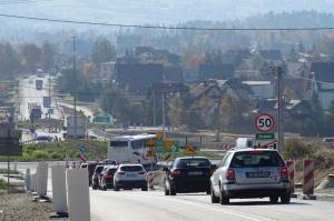 Zakopianka: Ruch jedną jezdnią S7 koło Chabówki