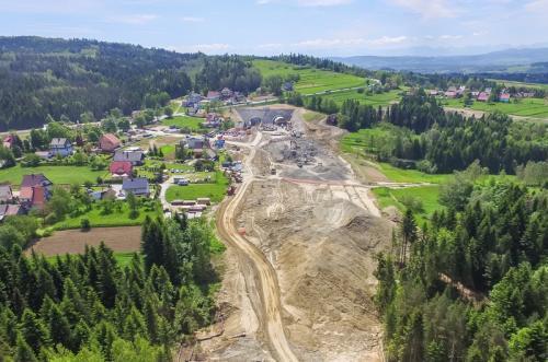 Zakopianka: Postępuje budowa S7 Lubień – Rabka. Będą coraz większe utrudnienia w ruchu