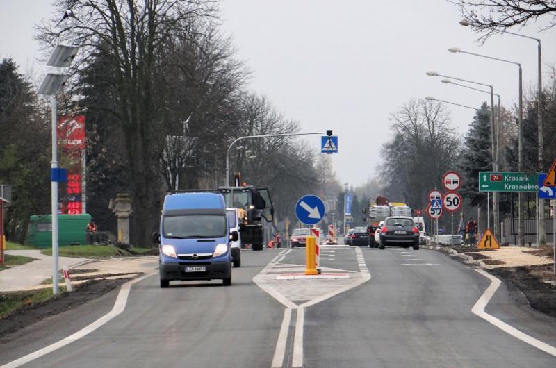 Przebudowana droga krajowa nr 74 w woj. lubelskim
