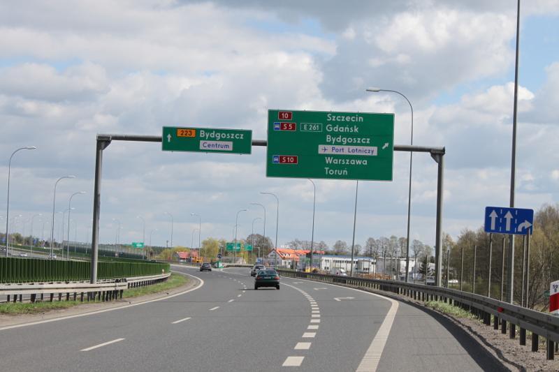 Droga krajowa nr 10 Bydgoszcz- Toruń będzie rozbudowana do parametrów ekspresowej S10