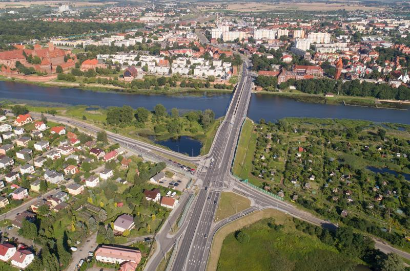 Nowy most przez Nogat w Malborku w ciągu DK22 i DK55