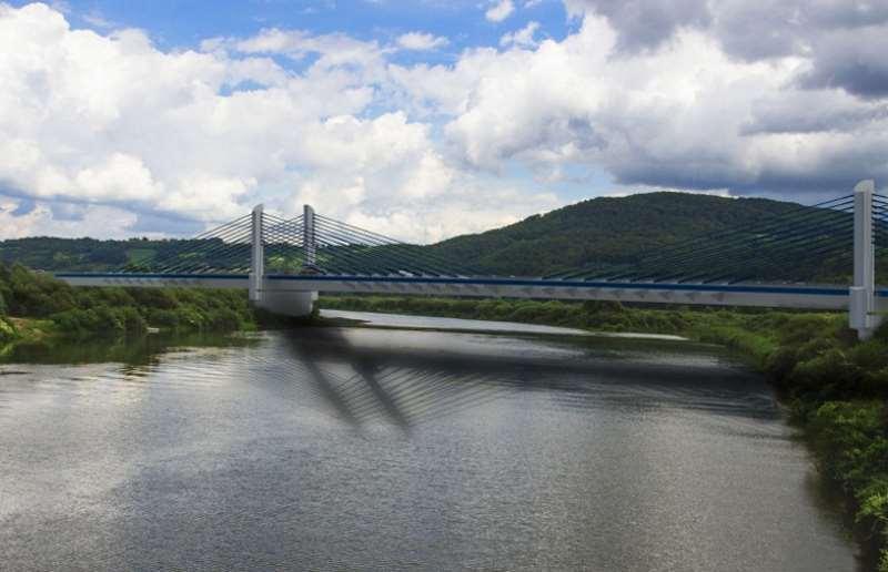 Most na Dunajcu w Kurowie k. Nowego Sącza