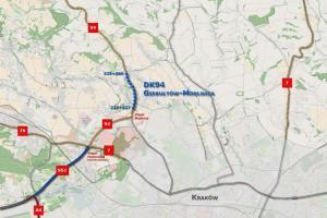 Dwujezdniowa DK94 poprowadzi do północnej obwodnicy Krakowa S52