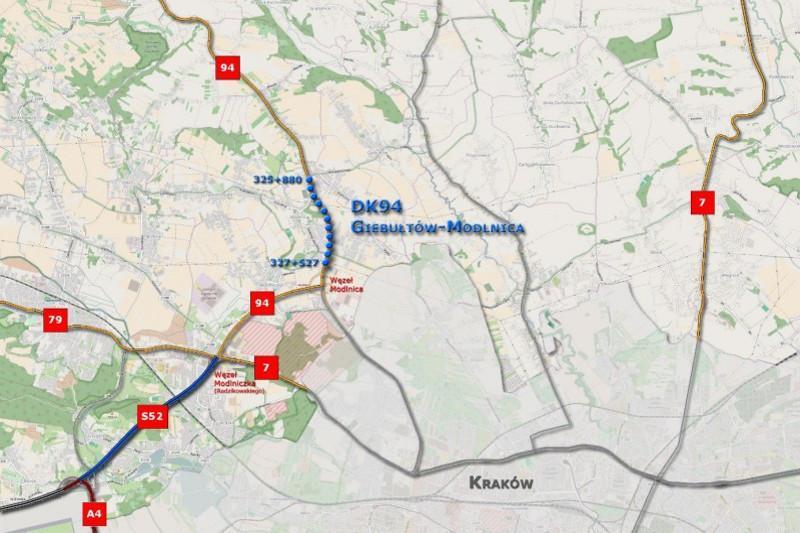 Rozbudowa drogi krajowej nr 94 od obwodnicy Krakowa S52 do Giebułtowa