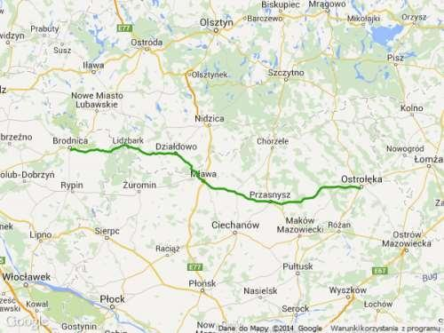 DW544 mapa