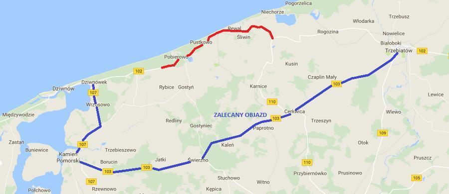 Przbudowa drogi wojewódzkiej nr 102 na trasie Miedzyzdroje - Kołobrzeg