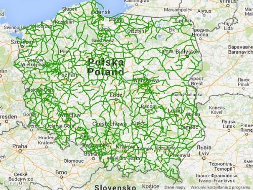 Mapa dróg wojewózkich w Polsce