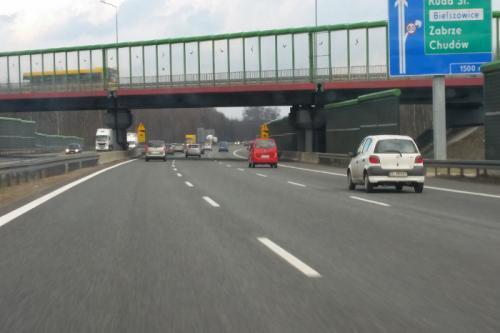 Prace na autostradzie A4 Katowice - Kraków