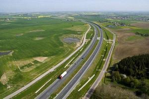 Autostrada A1 Gdańsk - Toruń z lotu ptaka