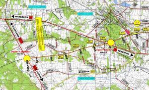 Przebieg autostrady A2 od Warszawy do wschodniej granicy - bardzo szczegółowe mapy