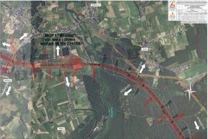 Mapy przebiegu drogi S6 - Obwodnicy Metropolii Trójmiasta według wariantu 1A
