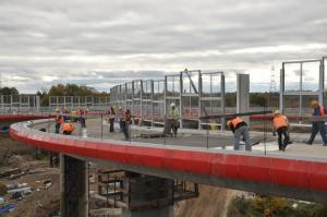 Budowa węzła Gdańsk Lipce na drodze ekspresowej S7