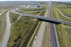 Ostatni odcinek autostrady A4 Rzeszów - Jarosław w budowie (sierpień 2015 r.)