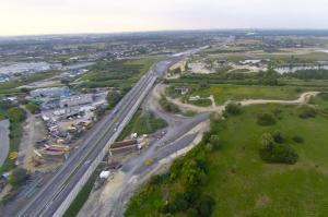 Postęp prac przy budowie S7 - wschodniej obwodnicy Krakowa (sierpień 2015.)