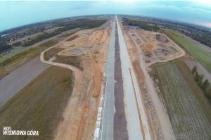 Budowa autostrady A1 Stryków - Tuszyn (wrzesień 2015 r.). Odcinek A1 w. Brzeziny - w. Romanów