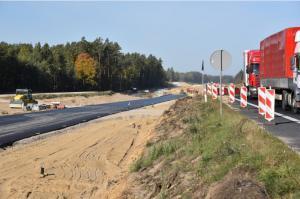 Na budowie drogi ekspresowej S7 Miłomłyn – Olsztynek