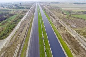 Październik na budowie autostrady A4 Rzeszów - Jarosław