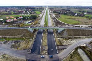 Budowa autostrady A4 Rzeszów - Jarosław (listopad 2015 r.)