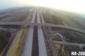 Autostrada A1 ze Strykowa do Tuszyna, obwodnica Łodzi. Wizyta na budowie odcinka 2 - listopad 2015
