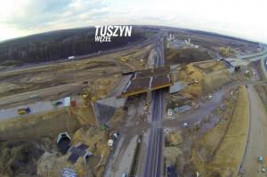 Autostrada A1 ze Strykowa do Tuszyna, obwodnica Łodzi. Wizyta na budowie odcinka 3 - listopad 2015