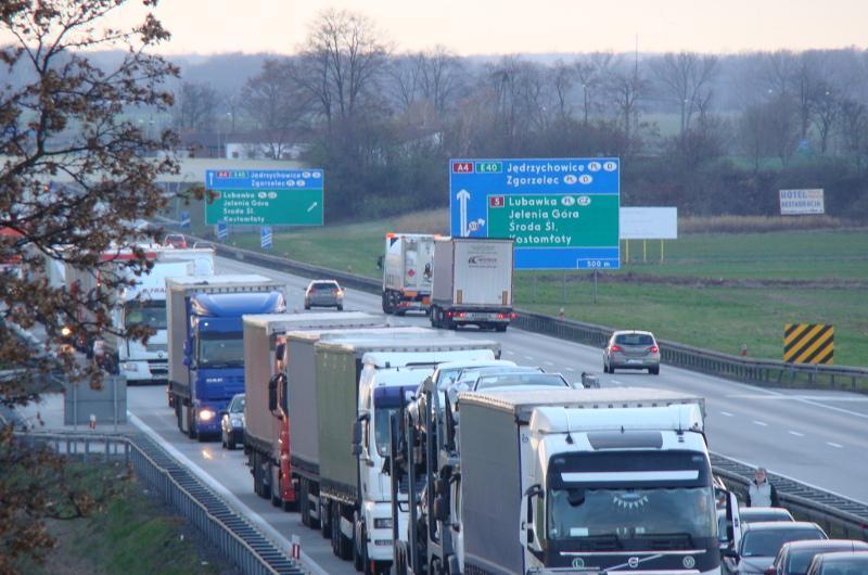 Olbrzymie korki na autostradzie A4