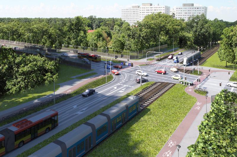 Aleja Wielkiej Wyspy we Wrocławiu z mostami przez Odrę i Oławę