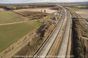 Zdjęcia lotnicze z budowy drogi ekspresowej S5 Wrocław - Korzeńsko
