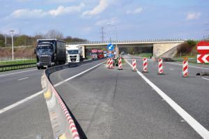 Pierwsze prace remontowe na autostradzie A4 pod Brzegiem