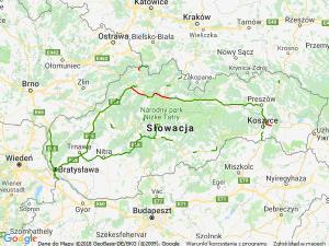 Mapa samochodowa - Słowacja