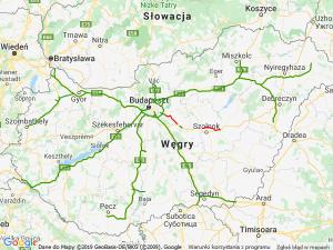Mapa samochodowa - Węgry
